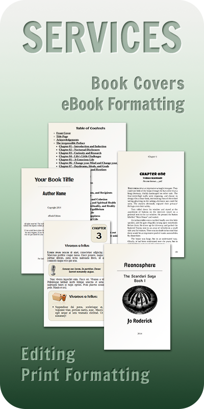 Front Page: Providing services such as formatting and Book Cover design.